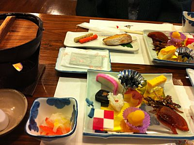 阿蘇内牧温泉蘇山郷 元旦の朝食